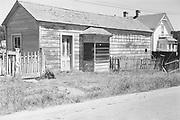 9424-M5-09. Hazeltine's Photograph studio. Martin Hazeltine's photo studio on Little Lake St., Mendocino, which opened in March 1883 . Ca. 1960 photo.