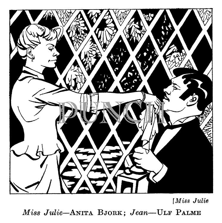 Miss Julie : Anita Bjork and Ulf Palme