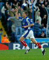 Photo: Gareth Davies.<br />Portsmouth v Everton. The Barclays Premiership. 09/12/2006.<br />Portsmouth's Matt Taylor scores from long range to make it 1-0 against Everton.