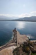 Corsica. France. Calvi , Mediteranean sea view from the Citadel, Corsica, France