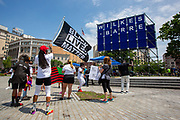 Wilkes-Barre, PA (July 11, 2020) -- Dozens of people marched to Public Square for the Black Lives Matter NEPA United Movement event in  Wilkes-Barre.