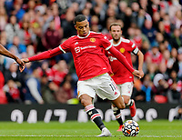 Football - 2021 / 2022 Pre-Season Friendly - Manchester United vs Everton - Old Trafford - Saturday 7th August 2021<br /> <br /> Mason Greenwood of Manchester United shoots, at Old Trafford.<br /> <br /> COLORSPORT/ALAN MARTIN