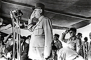 Charles de Gaulle (1890-1970) French General and first President of The Fifth Republic. President de Gaulle visits Algeria in 1958.  Photograph.
