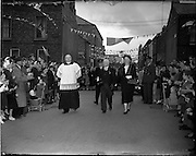 14/05/1957<br /> 05/14/1957<br /> 14 May 1957<br /> St Agatha's Daughters of Charity convent in North William Street, commemorating their centenary, Dublin. President Sean T. O'Kelly and Mrs O'Kelly take part in the celebrations.