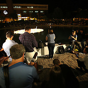 Melissa Catalanotto, President of the Society of Professional Journalists on the UCF campus, speaks during a candlelight vigil in memory of American freelance journalist Steven Sotloff at the University of Central Florida in Orlando, Florida, USA, 03 Septemvber 2014. Sotloff was reportedly executed by the Islamic State according to a video released by the group on 02 September. Sotloff was a former student at the university.