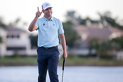 February 25, 2018 - Palm Beach Gardens, Florida, U.S. - Luke List waves to the crowd after completing the 18th hole during the final round of the 2018 Honda Classic at PGA National Resort and Spa in Palm Beach Gardens, Fla., on Sunday, February 25, 2018. (Credit Image: © Andres Leiva/The Palm Beach Post via ZUMA Wire)