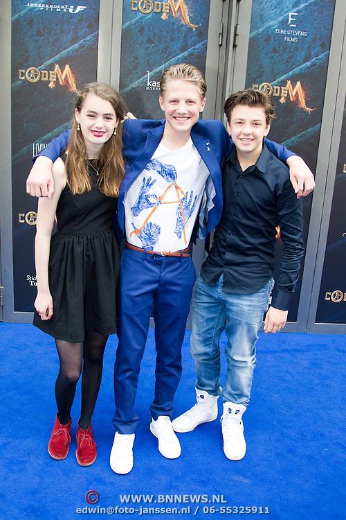NLD/Amsterdam/20150620- Filmpremiere Code M, Nina Wyss, Joes Brauers, Senna Borsato