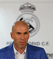 Zinedine Zidane during his presentation as Real Madrid´s new coach at Santiago Bernebeu stadium Madrid, Spain. January 04, 2016. (ALTERPHOTOS/B. Echavarri)