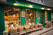 Shop selling cider and other regional products, Honfleur, Normandy, France