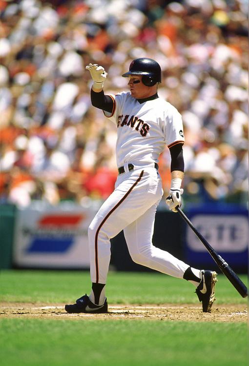 SAN FRANCISCO - 1994:  Matt Williams of the San Francisco Giants bats during an MLB game at Candlestick Park in San Francisco, California during the 1994 season. (Photo by Ron Vesely) Subject:   Matt Williams