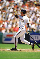 SAN FRANCISCO - 1994:  Matt Williams of the San Francisco Giants bats during an MLB game at Candlestick Park in San Francisco, California during the 1994 season. (Photo by Ron Vesely) Subject:   Matt Williams