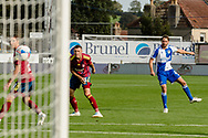 Bristol Rovers midfielder Edward Upson (6) shoots during the EFL Sky Bet League 1 match between Bristol Rovers and Ipswich Town at the Memorial Stadium, Bristol, England on 19 September 2020.