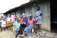 BILL WITH MERESA AND FAMILY SHAURIYAKO SLUMS,(EXTREAM POVERTY-HIV)