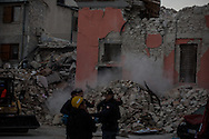 The exact moment a new earthquake valuted 6.8 hit the town of Amatrice causing other minors damages.