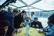 Lech Walesa president of solidarnosc from Poland visit Paris at the invitation of CFDT union oct 198