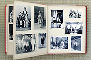 open page of a old family photo album Japan Asia 1960s