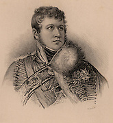 Andoche Junot (1771-1813) Duc d'Abrantes. French soldier who joined the Revolutionary army in 1792 and was with Napoleon during the Egyptian campaign.  Appointed governor of Portugal and was defeated by Wellington at Vimeiro 1808. Peninsular Campaign.