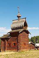 Russie, Federation de Irkoutsk, Irkoutsk, musée de l'architecture en bois// Russia, Irkoutsk federation, Irkoutsk, wooden architecture museum.