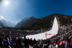 Fans during Flying Hill Team competition at 3rd day of FIS Ski Jumping World Cup Finals Planica 2012, on March 17, 2012, Planica, Slovenia. (Photo by Vid Ponikvar / Sportida.com)