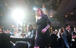 Kelly Smith makes her way to the stage to collect the PFA special Achievement Award during the Professional Footballers' Association Awards 2017 at the Grosvenor House Hotel, London