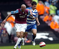 Photo: Olly Greenwood.<br />West Ham United v Reading. The Barclays Premiership. 01/10/2006. West Ham United's Paul Konchesky and Reading's Shane Long