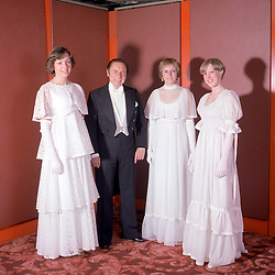 Paddock Wood Finishing School girls attend the Queen's Charlotte's Ball at The Grosvenor House Hotel, London on 4th May 1976.