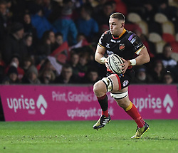 Dragons' Harrison Keddie in action<br /> <br /> Photographer Mike Jones/Replay Images<br /> <br /> Guinness PRO14 Round Round 18 - Dragons v Cheetahs - Friday 23rd March 2018 - Rodney Parade - Newport<br /> <br /> World Copyright © Replay Images . All rights reserved. info@replayimages.co.uk - http://replayimages.co.uk