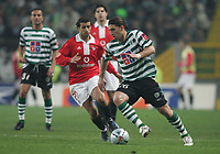 """PORTUGAL - LISBOA 08 JANUARY 2005: SIMAO SABROSA #20 and ROCHEMBACK #26 in the 16¼ leg of the Super Liga, season 2004/2005, match  Sporting CP vs SL Benfica (2 - 1), held in """"Alvalade XXI"""" stadium,  08/01/2005  23:06:20<br />(PHOTO BY: NUNO ALEGRIA/AFCD)<br /><br />PORTUGAL OUT, PARTNER COUNTRY ONLY, ARCHIVE OUT, EDITORIAL USE ONLY, CREDIT LINE IS MANDATORY<br /> AFCD-PHOTO AGENCY 2005 © ALL RIGHTS RESERVED"""