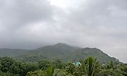 Foggy Landscape of the sacred  Arunachala Hill, near Tiruvannamalai, Tamil Nadu, India
