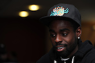 Swansea city player Nathan Dyer.Swansea city training and media day at the  Liberty stadium in Swansea, South Wales on Thursday 21st Feb 2013. The team are training ahead of their forthcoming Capital one cup final on Sunday. pic by Andrew Orchard, Andrew Orchard sports photography,