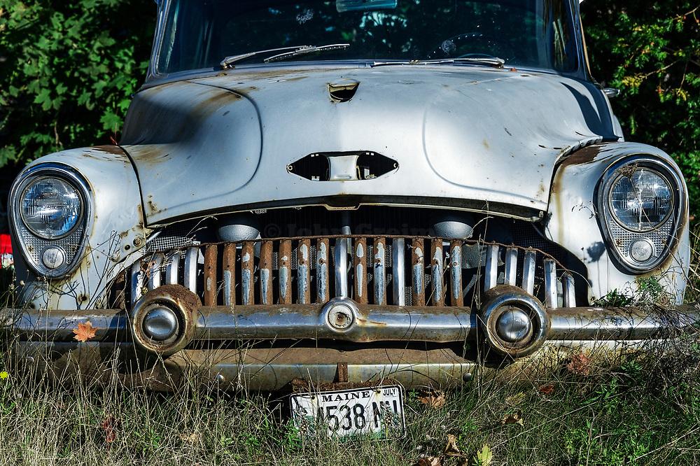 Old abandoned car.