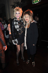 Left to right, LISA VOICE and ELIZABETH EMANUEL at a party and fashion show to celebrate the 40th anniversary of Butler & Wilson held at Koko, 1 Camden High Street, London NW1 on 12th November 2009.