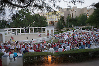 FAYETTEVILLE, AR - SEPTEMBER 2:  The Greek Theatre during a Pep Rally on the campus of the University of Arkansas on September 2, 2006 in Fayetteville, Arkansas.   (Photo by Wesley Hitt/Getty Images) *** Local Caption ***