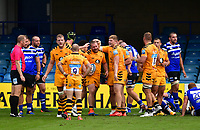Rugby Union - 2019 / 2020 Gallagher Premiership - Bath vs Wasps<br /> <br /> Wasps' Tom West celebrates scoring his sides second try, at the Recreation Ground.<br /> <br /> COLORSPORT/ASHLEY WESTERN