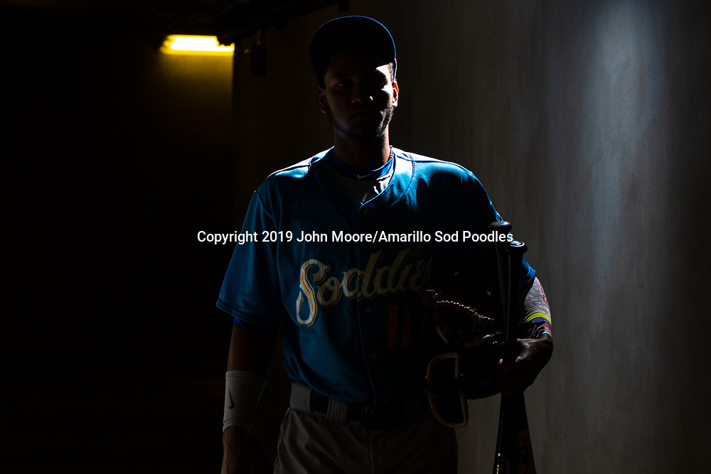 Amarillo Sod Poodles outfielder Edward Olivares (11) before the game against the Tulsa Drillers during the Texas League Championship on Saturday, Sept. 14, 2019, at OneOK Field in Tulsa, Oklahoma. [Photo by John Moore/Amarillo Sod Poodles]