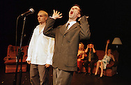 Anonymous Society rehearsing their tribute show to singer Jacques brel which is playing at the Assembly Rooms, Edinburgh as part of this year's Festival fringe..10/08/1999