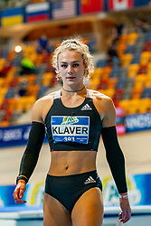 Lieke Klaver in action on the 400 meter during AA Drink Dutch Athletics Championship Indoor on 21 February 2021 in Apeldoorn.