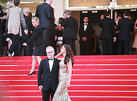Aishwarya Rai Bachchan and Thierry Fremaux on the red steps  at the Two Days, One Night (Deux Jours, Une Nuit) gala screening red carpet at the 67th Cannes Film Festival France. Tuesday 20th May 2014 in Cannes Film Festival, France.