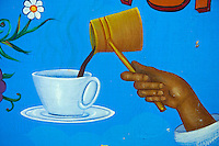 Grèce, Crète, le port vénitien de Rethymnon, café grec // Greece, Crete island, Venetian port of Rethymnon, greek coffee