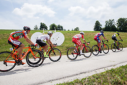 Ivan Santaromita (ITA) of Nippo-Vini Fantini, Enrico Salvador (ITA) of Tirol Cycling Team, Andrea Vendrame (ITA) of Androni-Sidermec-Bottecchia, Gorazd Per (SLO) of KK Adria Mobil, Tomas Buchacek (CZE) of Elkov-Author Cycling team during Stage 2 of 24th Tour of Slovenia 2017 / Tour de Slovenie from Ljubljana to Ljubljana (169,9 km) cycling race on June 16, 2017 in Slovenia. Photo by Vid Ponikvar / Sportida