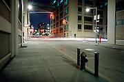 desolate street at night