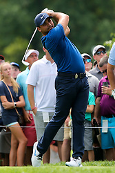 August 9, 2018 - St. Louis, Missouri, United States - Jason Day tees off the 7th hole during the first round of the 100th PGA Championship at Bellerive Country Club. (Credit Image: © Debby Wong via ZUMA Wire)