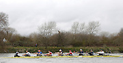 Putney, GREAT BRITAIN,  USA Select eight during the pre Boat Race fixture, Oxford University BC vs USA [Select]  M8+.  08/03/2008. [Mandatory Credit, Peter Spurrier/Intersport-images]..USA Eight. [right to left]  Bow Paul DANIELS. 2. Matt MUFFELMAN, 3. Chris CALLAGHAM, 4. Gabriel WINKLER, 5. Dan BEERY, 6. Brodie BUCKLAND, 7. Tyler WINKLEVOSS, Str, Cameron WINKLEVOSS, Cox Colin GROSHONG. Varsity Boat Race, Rowing Course: River Thames, Championship course, Putney to Mortlake 4.25 Miles,