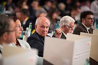 DEU, Deutschland, Germany, Hamburg, 07.12.2018: Volker Kauder (MdB, CDU) beim Bundesparteitag der CDU in der Messe Hamburg.