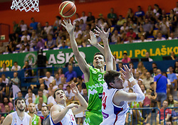 Jure Balazic of Slovenia during friendly match between National teams of Slovenia and Serbia for Eurobasket 2013 on August 3, 2013 in Arena Zlatorog, Celje, Slovenia. Slovenia derated Serbia 67-52. (Photo by Vid Ponikvar / Sportida.com)