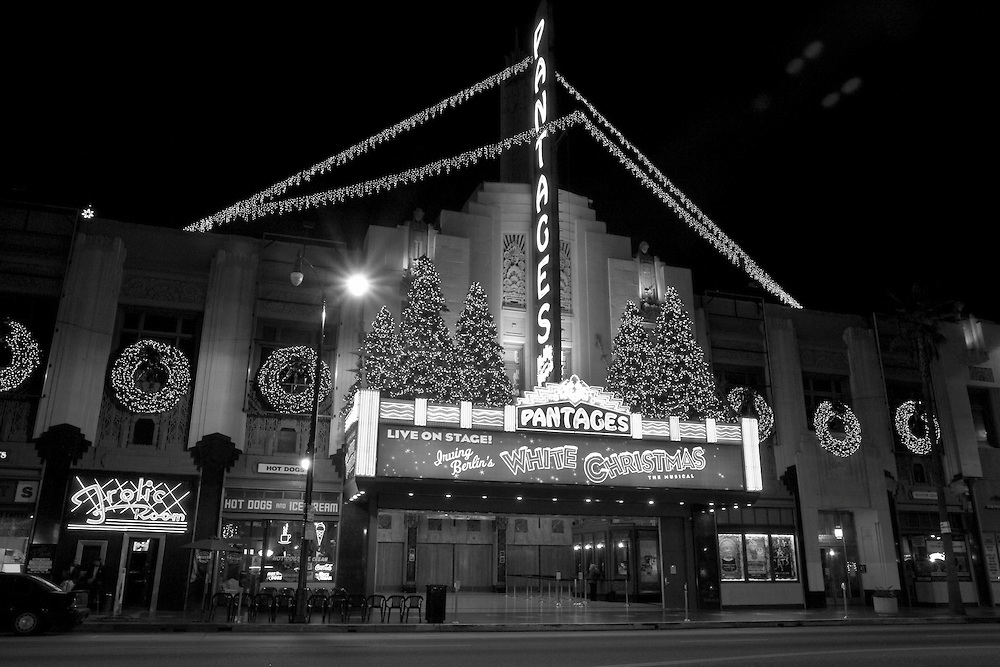 Irving Berlin's White Christmas at the Pantages Theatre on Hollywood Boulevard in Hollywood, CA. (USA)