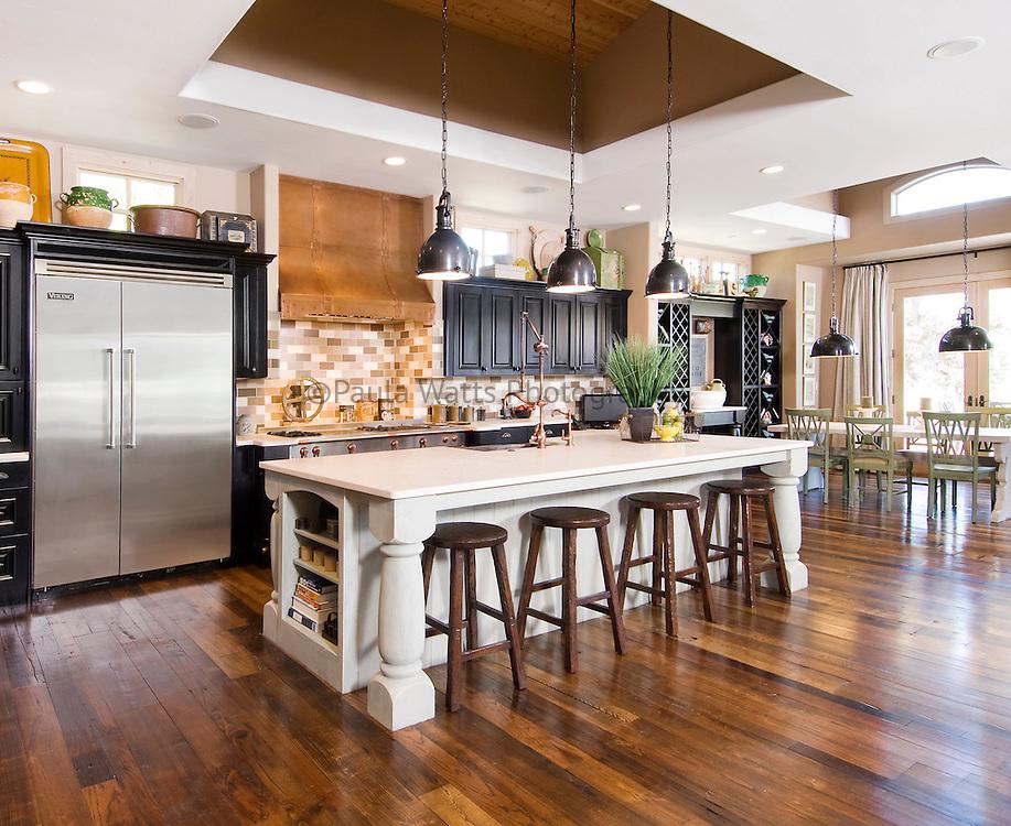 Beautiful classic kitchen interior with unique vintage detailing