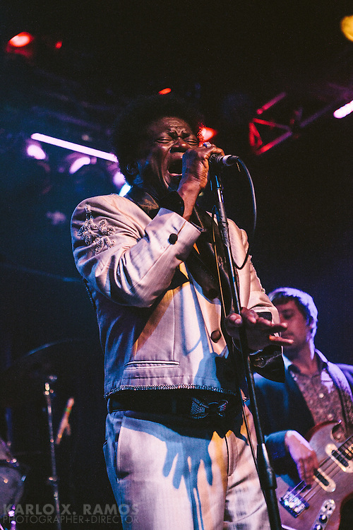 Charles Bradley and the Extraordinaires performing at the Do214.com launch party at Trees. Dallas,TX April 27, 2014