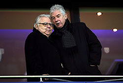 Everton chairman Bill Kenwright (left) during the Premier League match at The Hawthorns, West Bromwich.