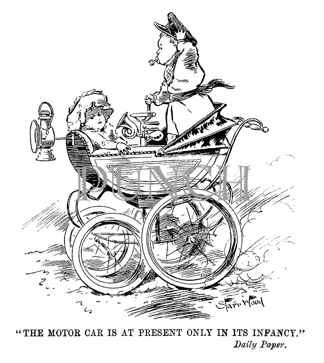 """""""The motor car is at present only in its infancy."""" Daily Paper."""